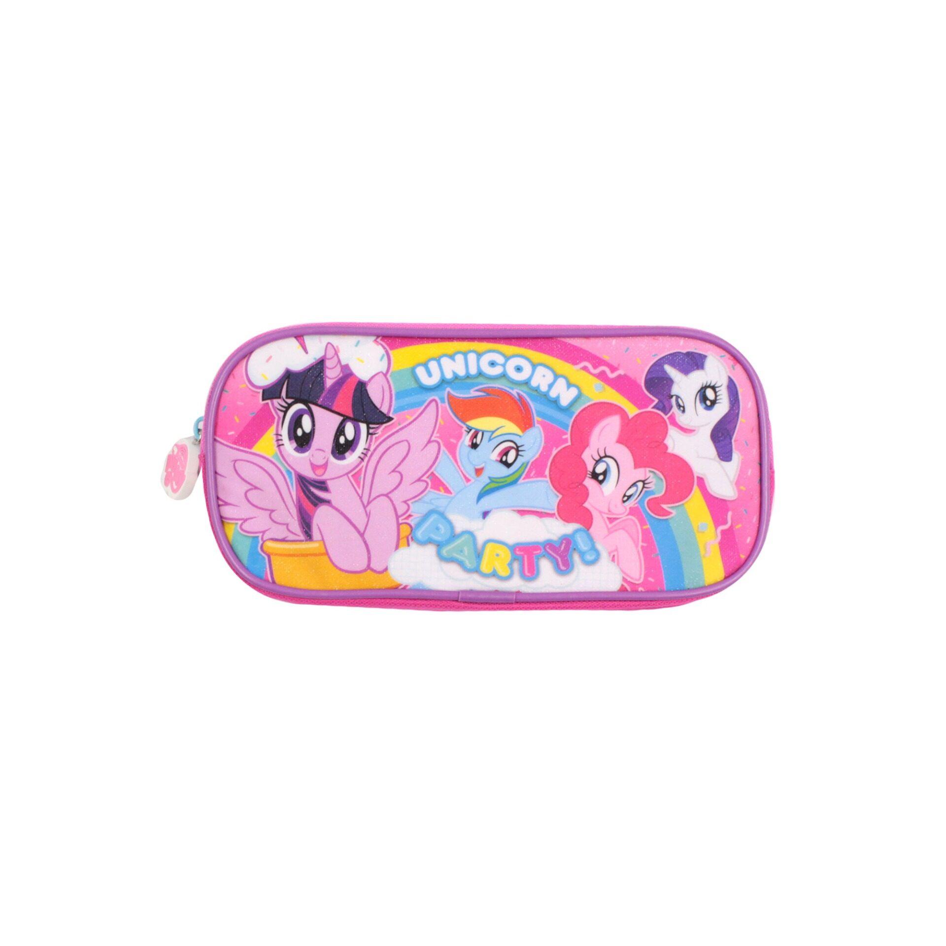 My Little Pony Unicorn Party! Children School Stationery Single Zip Pencil Case