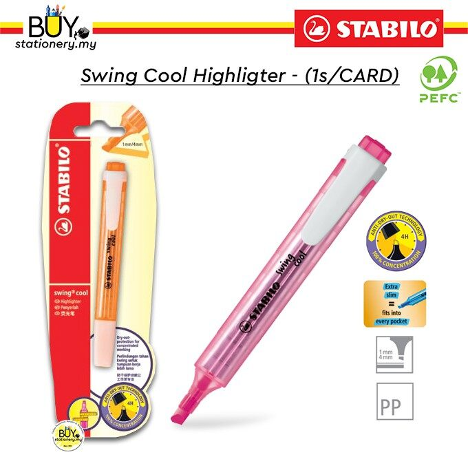 Stabilo Swing Cool Highlighter - (1s/CARD)