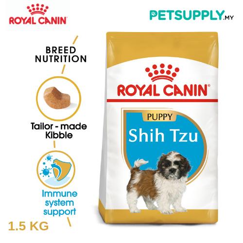 Royal Canin Dry Dog Food Shih Tzu Puppy 1.5KG [makanan anjing - PETSUPPLY.MY]