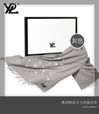 [Pre Order] Australia Import YPL Alpaca Wool Scarf (GREY) ONE SIZE (Made in Australia)