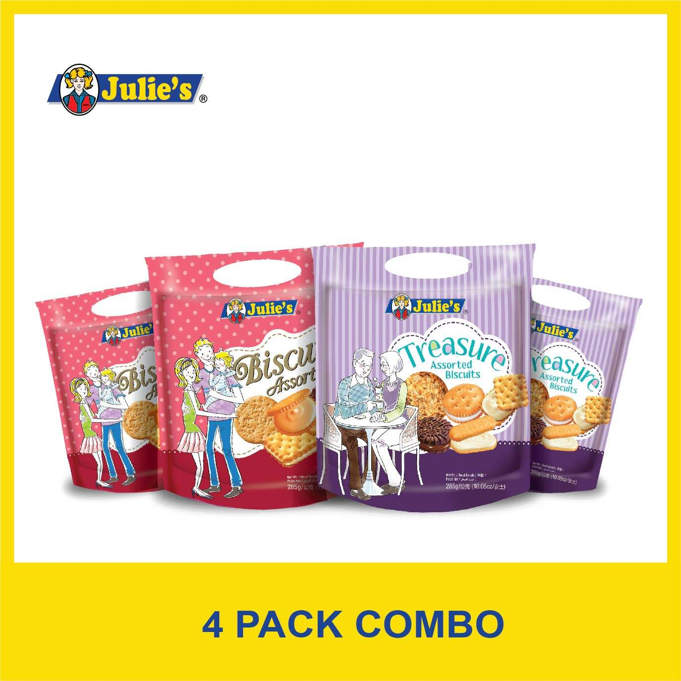 Julie's Assorted Biscuits Combo 285g x 4 packs