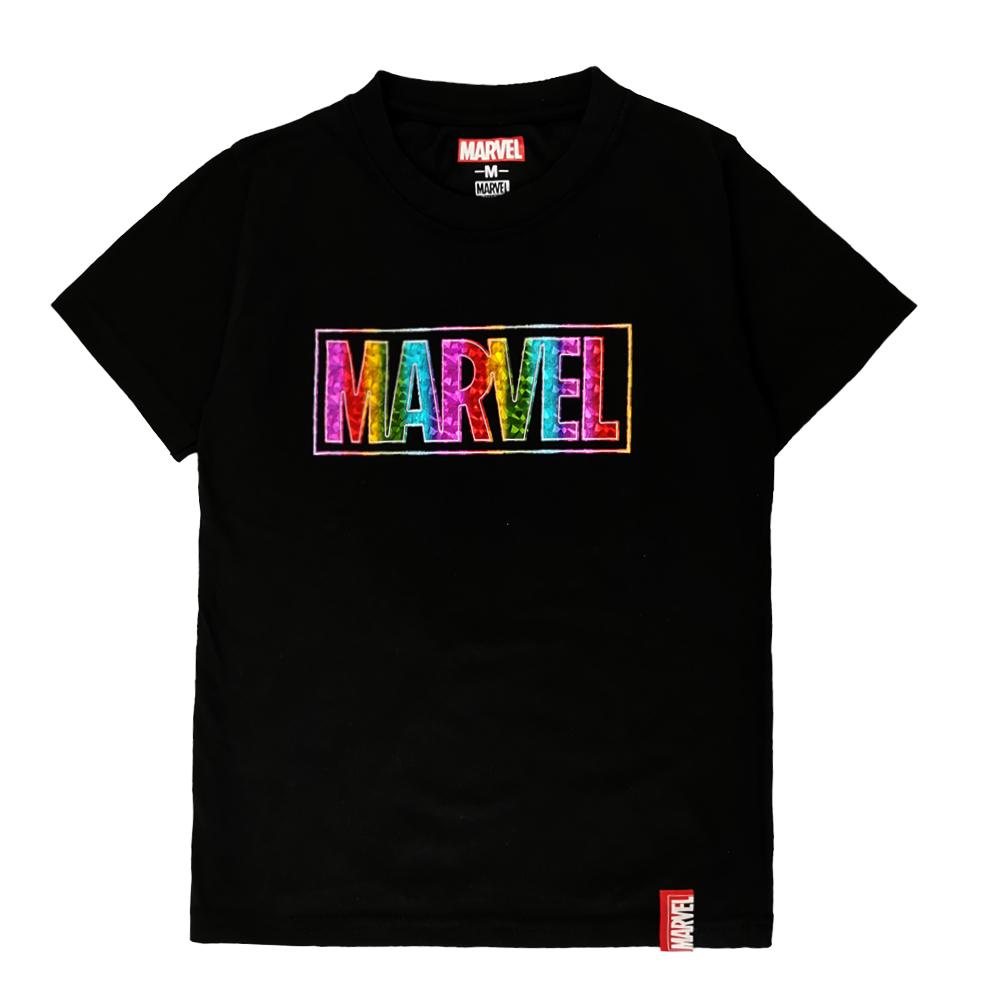 Marvel Genuine Kids Glow in the Dark Avengers Short Sleeve T Shirt VIM20746K (BLACK)