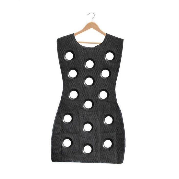 HAIRperone Woman Blouse Little Black Dress Hanging Scarf Organizer Tie Silk Scarf Handkerchief Storage Bag
