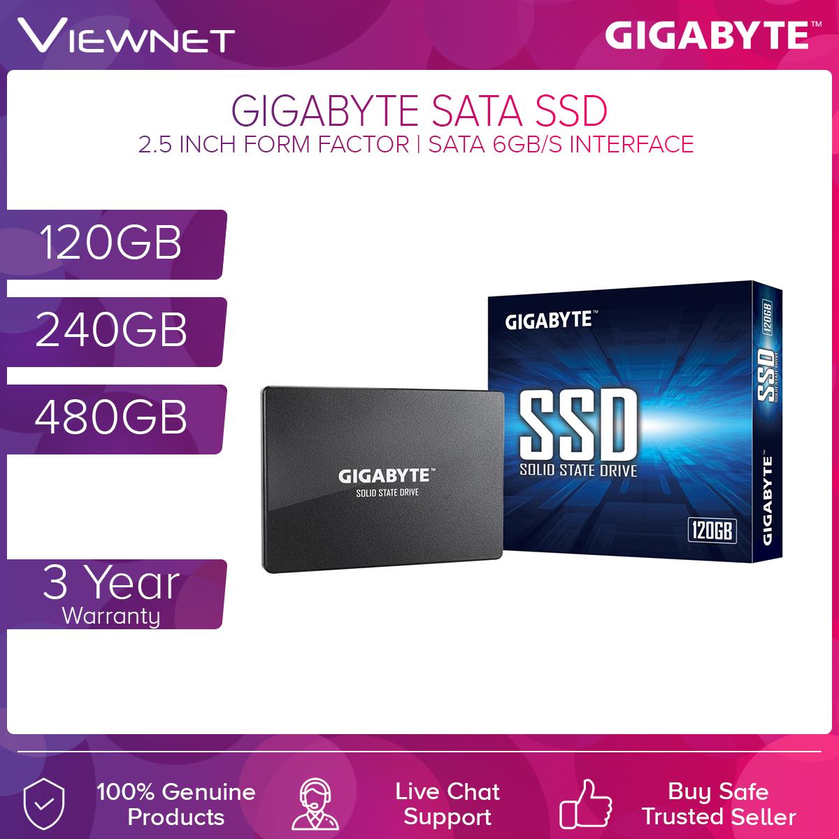 Gigabyte SATA 120GB/240GB/480GB SSD Solid State Drives (GP-GSTFS31120GNTD/GP-GSTFS31240GNTD/GP-GSTFS31256GNTD/GP-GSTFS31480GNTD)