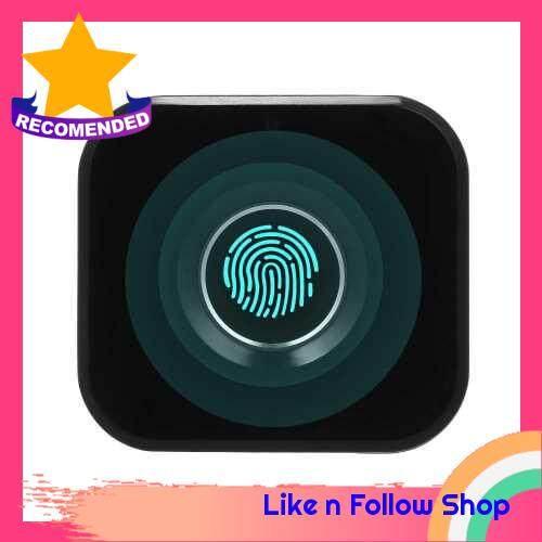 Smart Keyless Fingerprint Cabinet Lock Biometric Electric Lock Mini Portable Fingerprint Drawer Lock for Office Drawer File Cabinet (Black)
