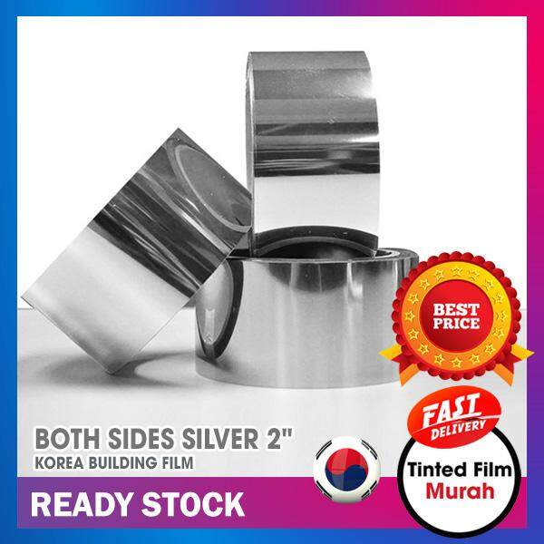 """Silver Line 2""""x1200"""" for Car Windscreen Top (Both Sides Silver)"""