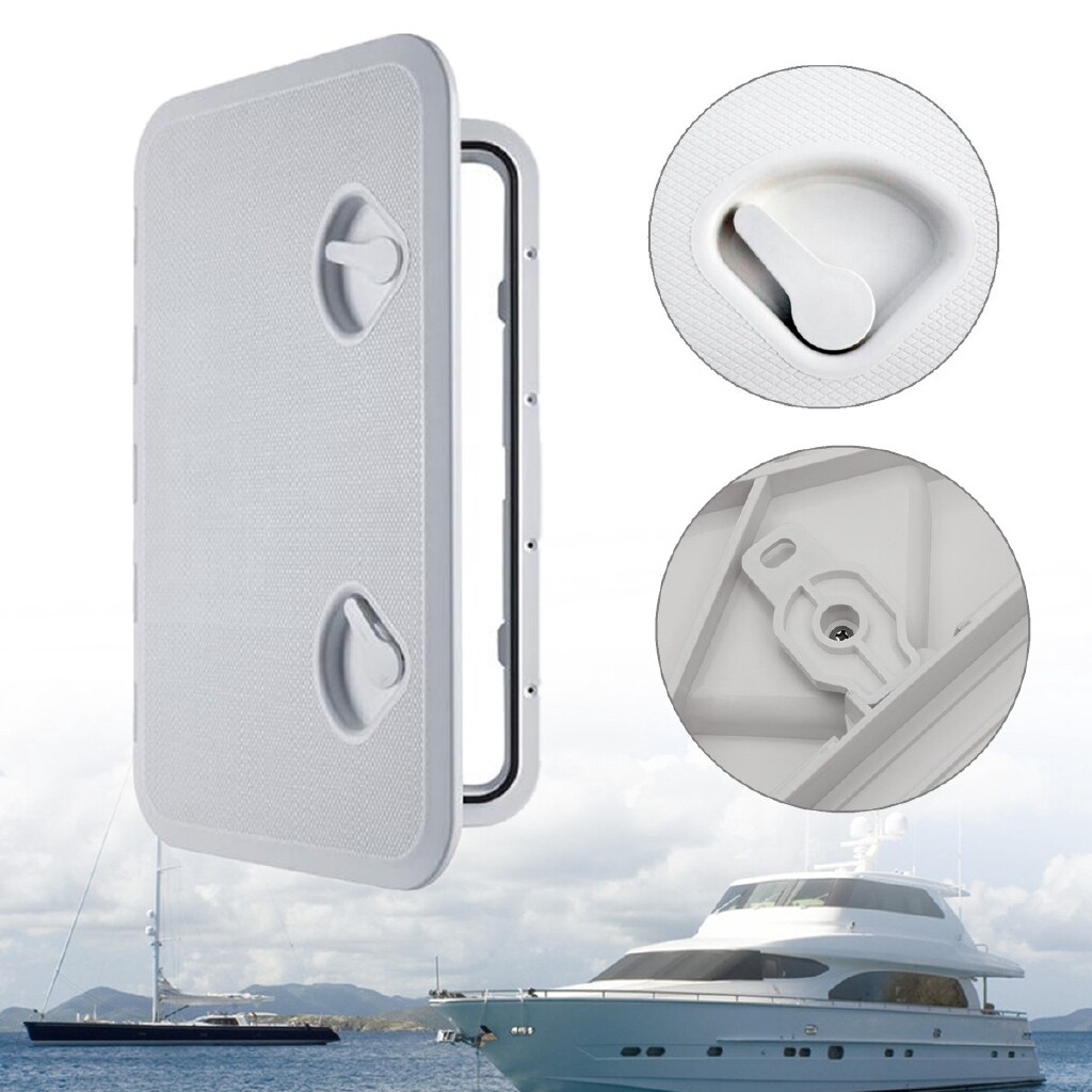Moto Spare Parts - Plastic Watertight Marine Boat Caravan Deck Compartment Access Hatch Plate White - Motorcycles, & Accessories
