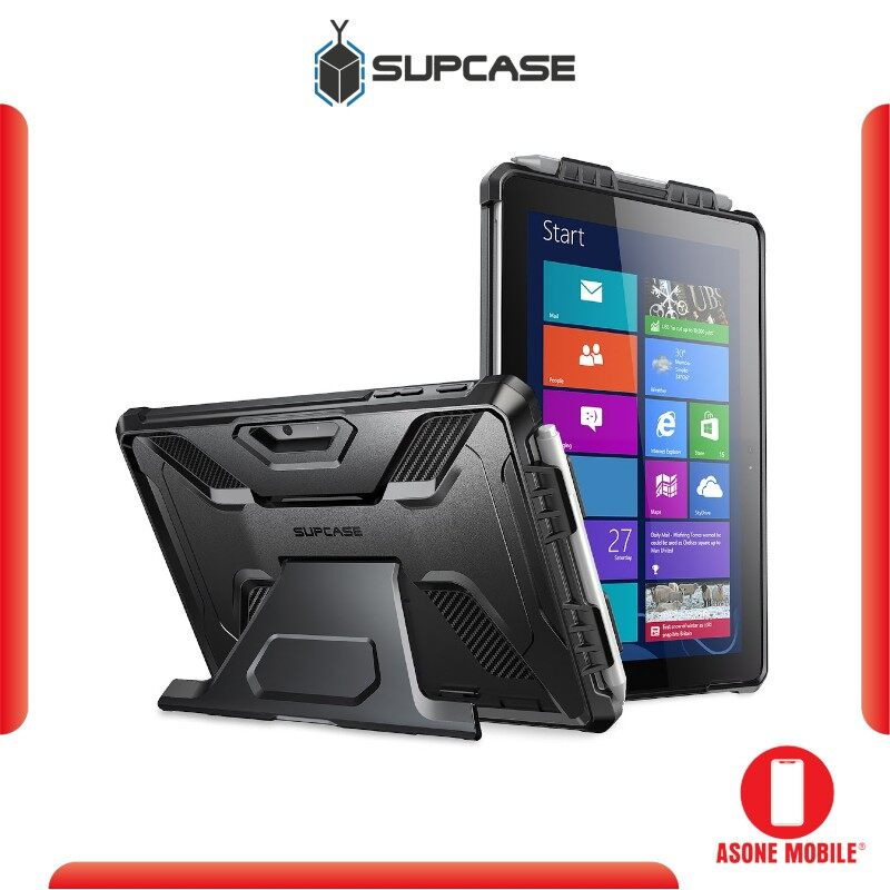 Original SUPCASE UB Pro Microsoft Surface Go 10 inch 2018 / Surface Go 2 10.5 inch 2020 Full-Body Kickstand Rugged Protective Case(Black)