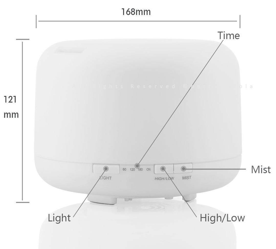 500ML ( Local 3 Pin Plug ) Ultrasonic Aroma Humidifier Purifier Diffuser Zen-Like No Noise Quiet Light Diffuser