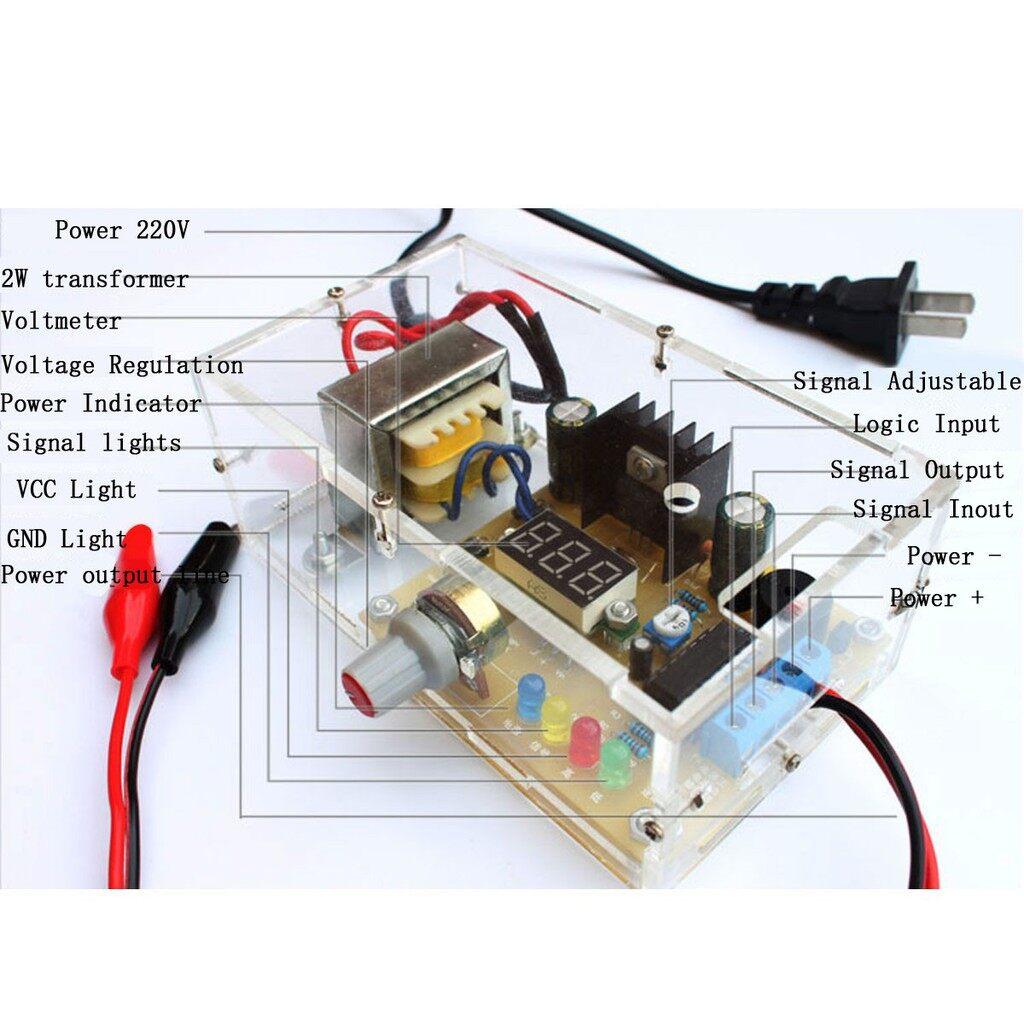 Gadgets - LM317 Adjustable Regulated 1.25V-12V Voltage Power Supply Board Kit With Case - Cool