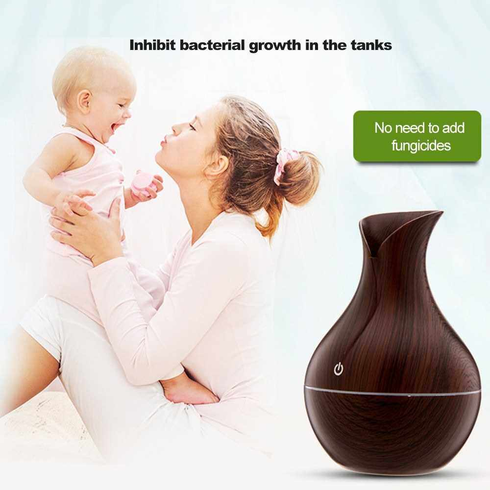 Aromatherapy Diffuser Home Silent Remote Control Aromatherapy Machine Humidifier (Light Brown)