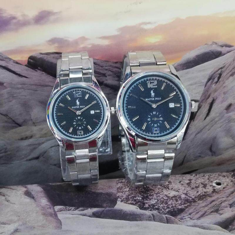 Master Polo Couple Full Set For Men & Women Date Time Chronograph Display Unique Style & Gurrented Cheap Price For Limited Time