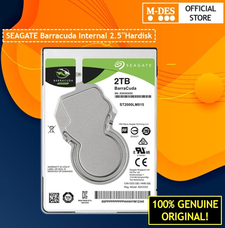 [LAPTOP] Seagate Barracuda 2TB 128MB 5400RPM 2.5 Internal Laptop Hard DIsk ( ST2000LM015 )