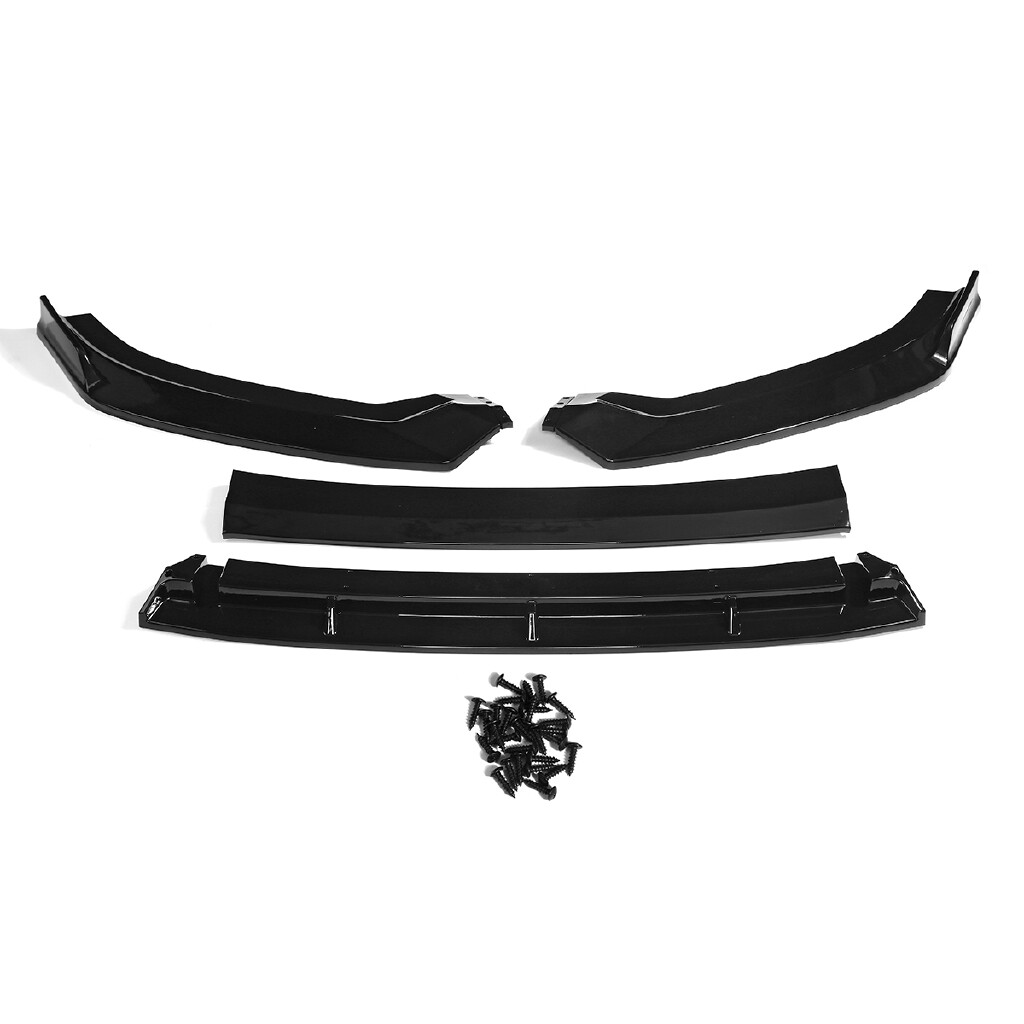 Engine Parts - Glossy Front Lower Bumper Lip Body Kit Spoiler Splitter For Audi A3 S3 2017- - Car Replacement