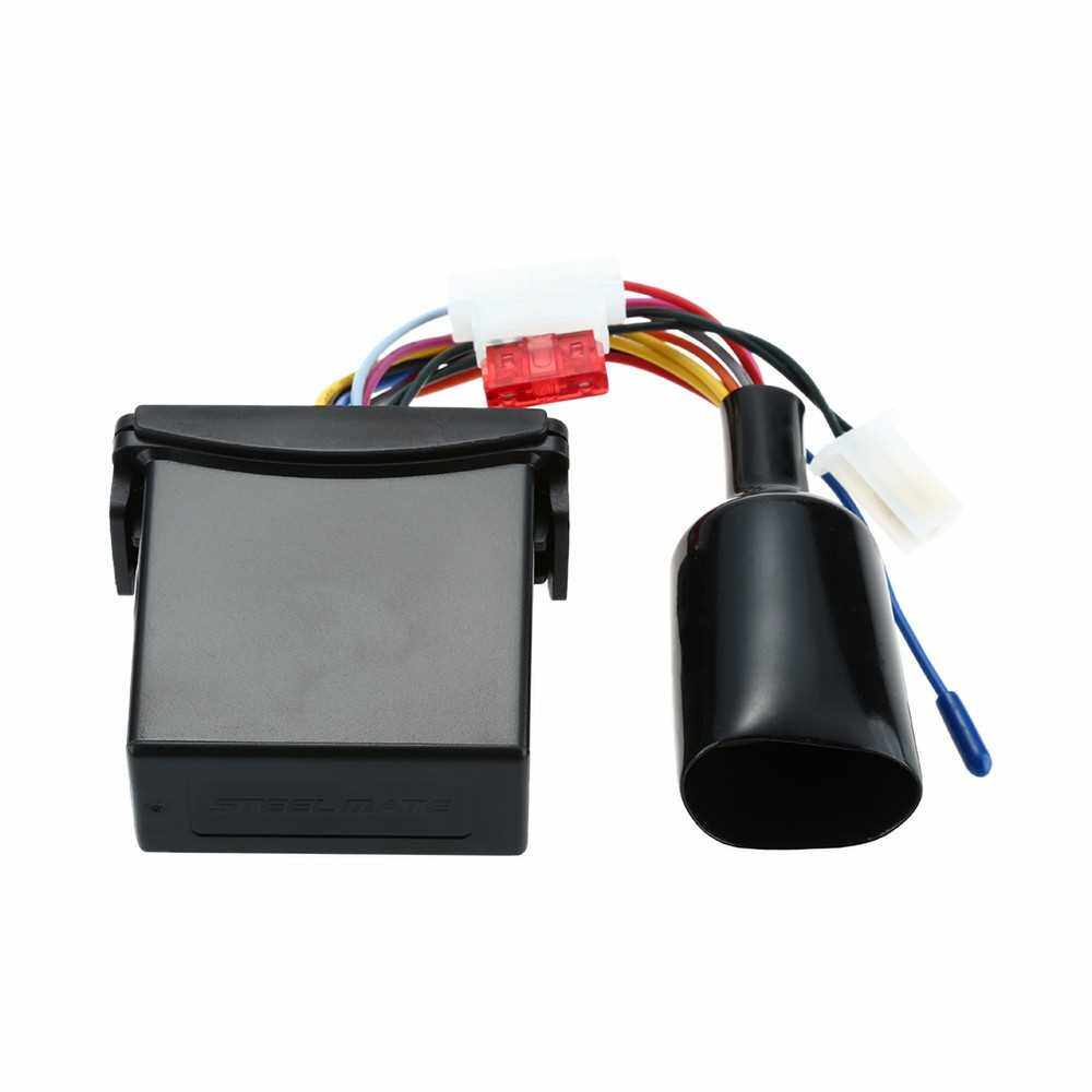 Steelmate 886E 1 Way Motorcycle Alarm System Water Resistant ECU Motorcycle Engine Immobilization with Fashionable Transmitter (Black)