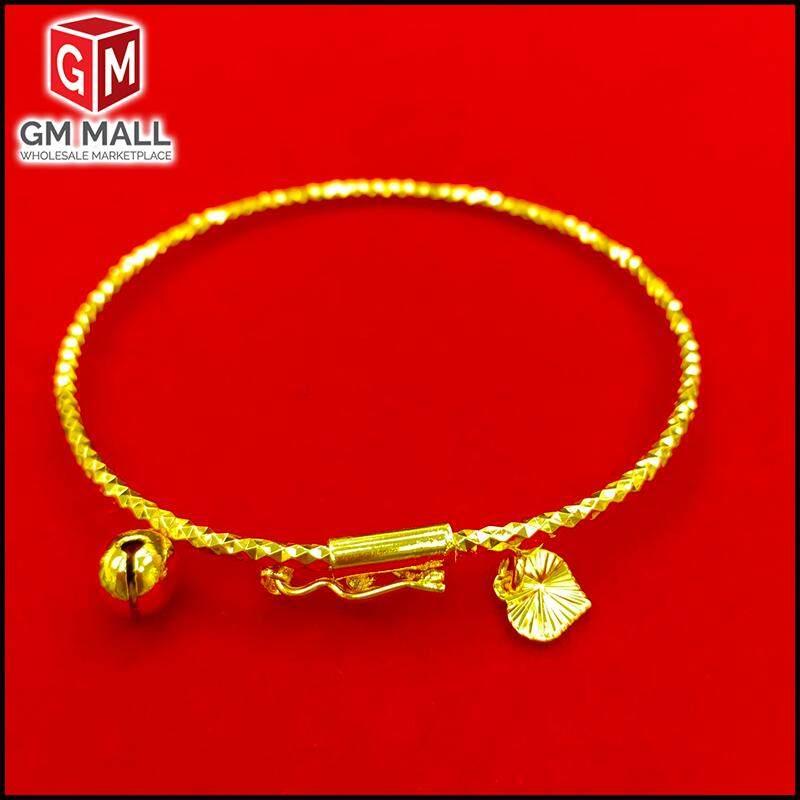 Emas Korea Jewellery - Gelang Tangan Kikir Pin Gold Plated (Bangle) For Women