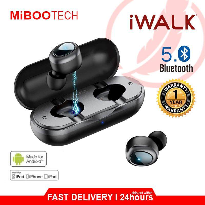 [Miboo] iWalk Amore Air Duo Wireless 5.0 Earbuds Born For Music Lover For IOS Android PC Mobile iPad Laptop No Sound Delay While Movie Gaming PUBG Earphone Headset