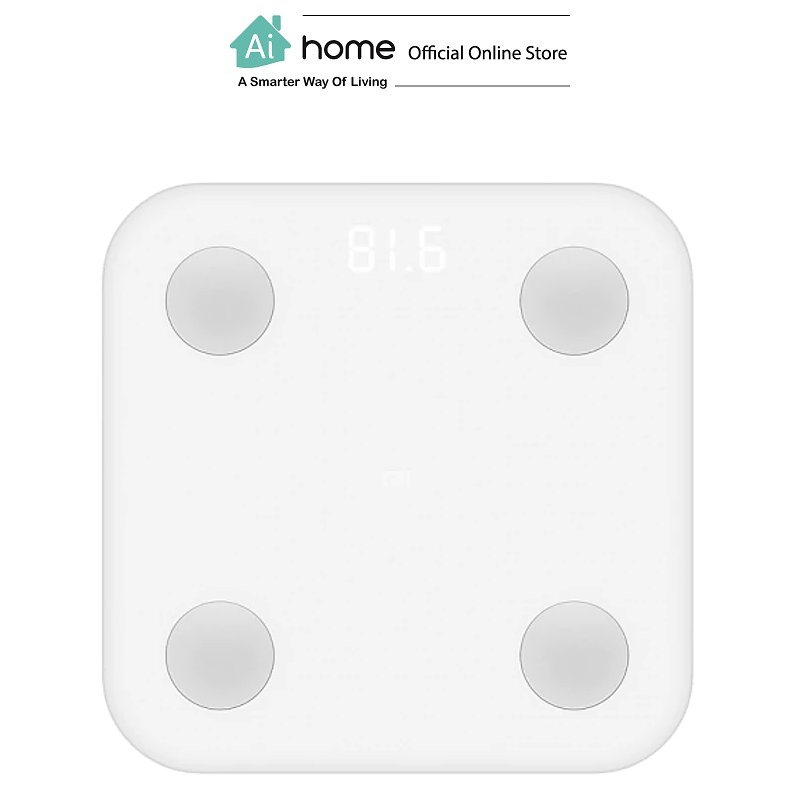 XIAOMI MIJIA Body Composition Scale 2 (White) Body Fat Digital Scale with 1 Year Malaysia Warranty [ Ai Home ]