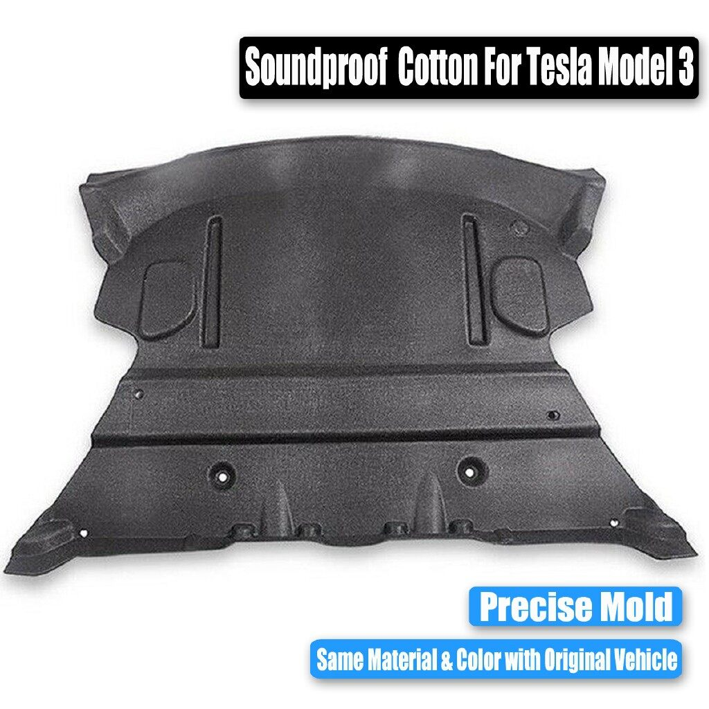 Car Accessories - Car Rear Trunk Soundproof Cotton Mat Protective Pad For Tesla Model 3 - Automotive