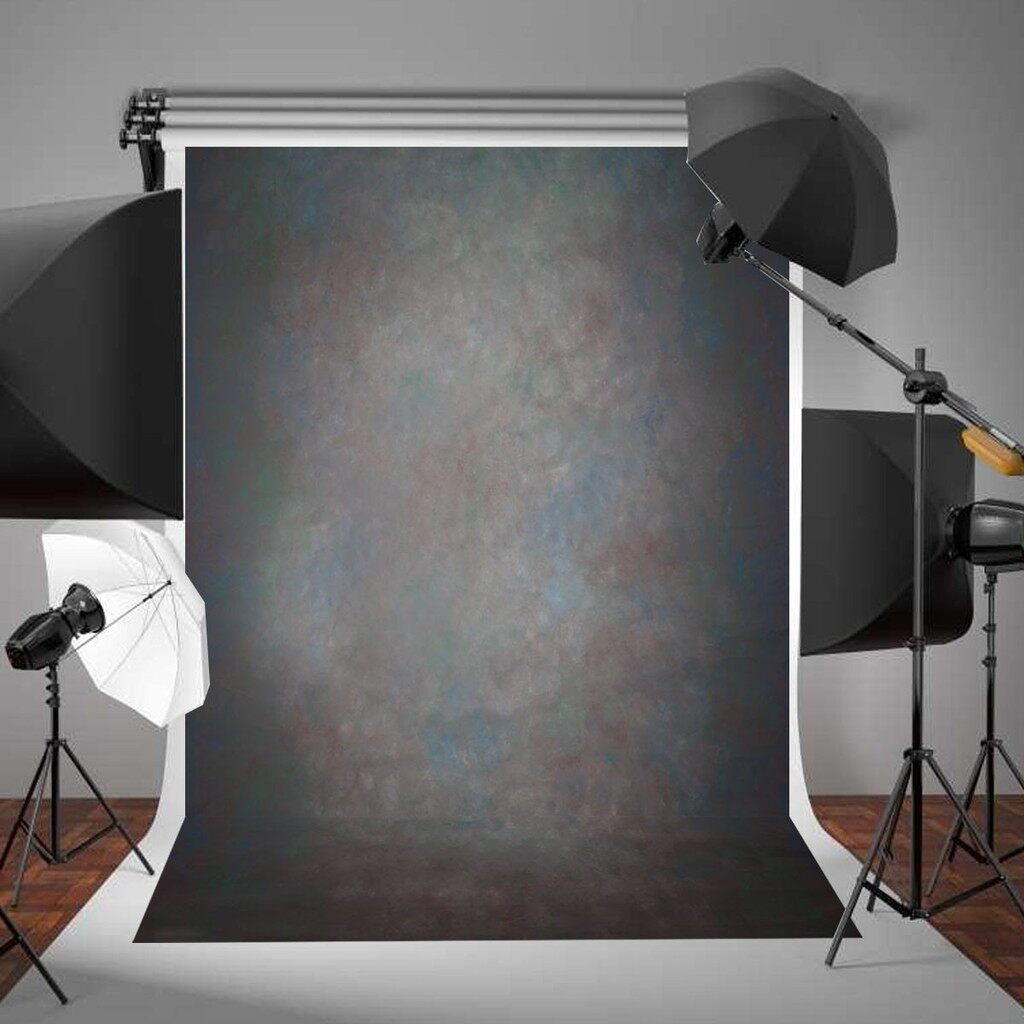 Lighting and Studio Equipment - 5x7ft Retro Black Abstract Backdrop Studio Photography Photo Background Props - Camera Accessories