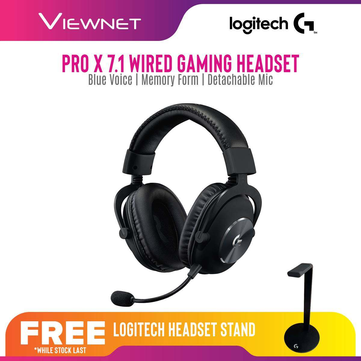 Logitech G PRO X 7.1 (981-000820) Gaming Headset With Blue Voice, Memory Foam, Durable Build