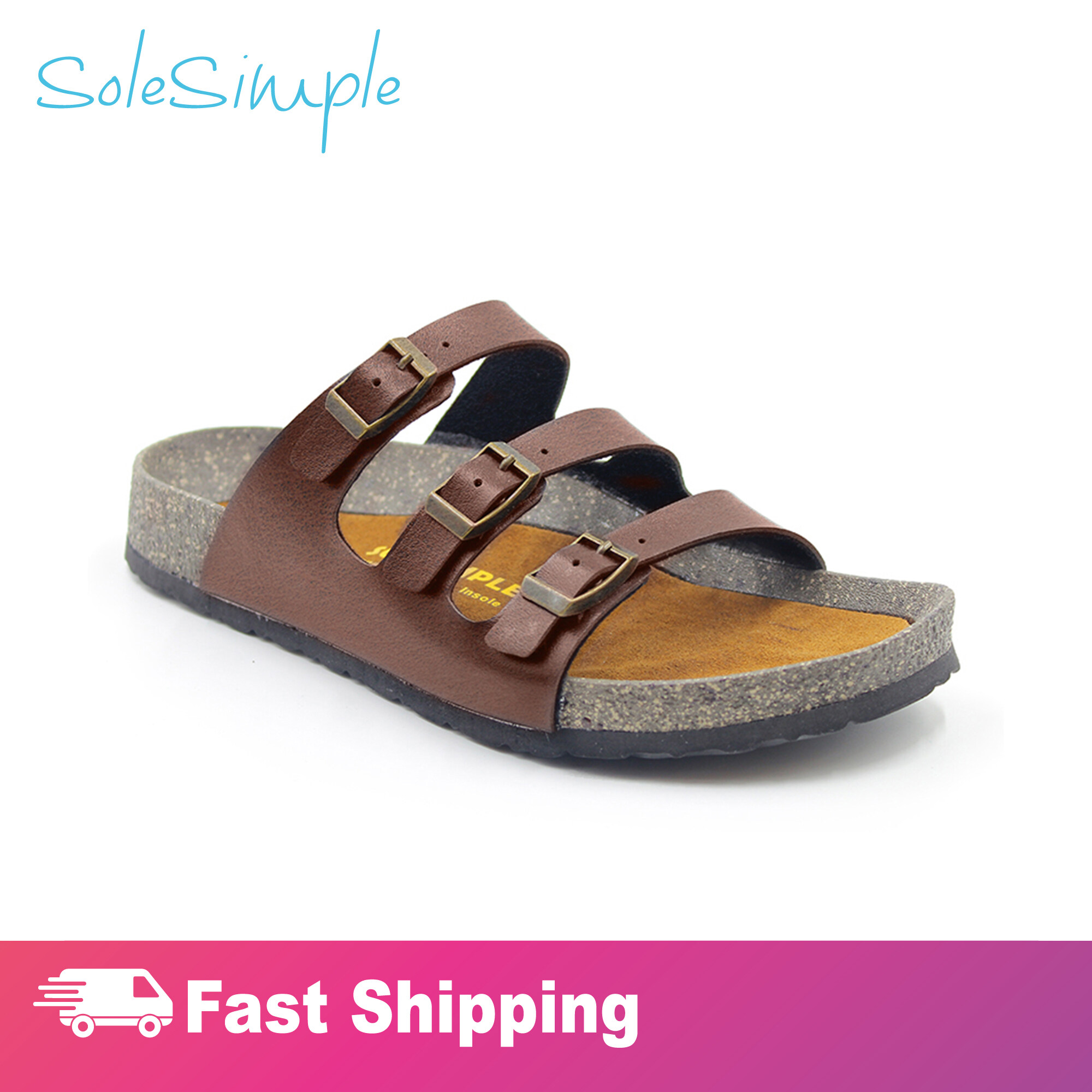 SoleSimple Ely - Leather Red / Sandal