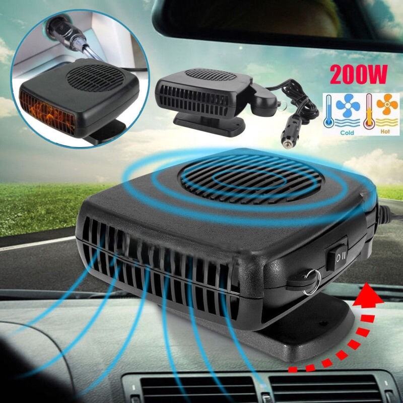 12V Car Heating Cooling Fan Heater Defroster Demister Instant Heat And Cool 2in1