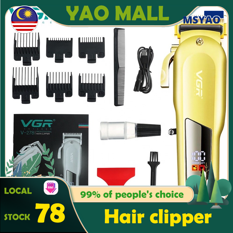 【Ready Stock】VGR-V278 ZERO Adjustable Professional Rechargeable Hair Trimmer Metal Hair Clipper Mesin Rambut Cutter Shaver Men Mesen Hair Clipper Shaver for Men hair trimmer shaver剃须刀电动