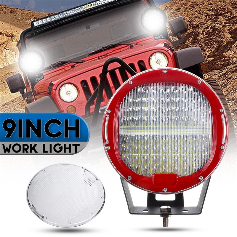 Car Lights - 9Inch LED Round Work Light Flood Spot Driving Lamp SUV ATV Car Truck Offroad - Replacement Parts
