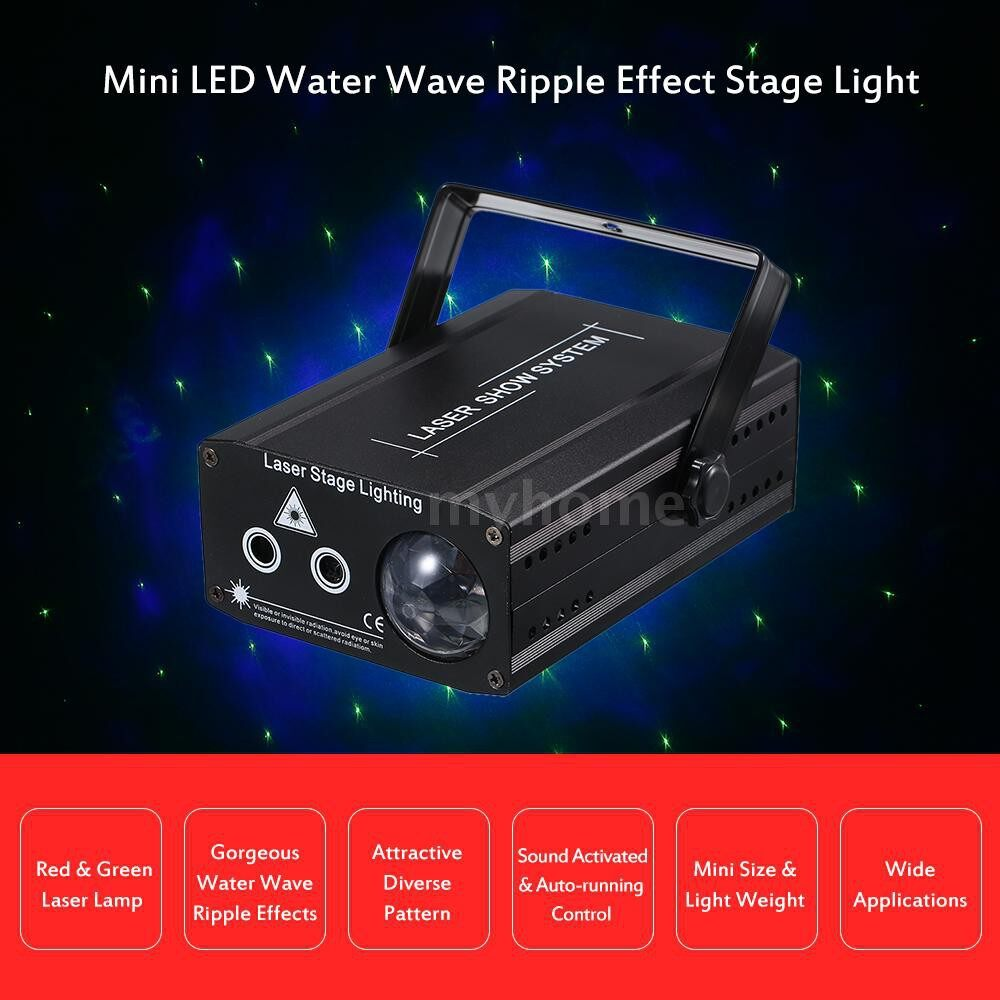 Lighting - AC110-220V 20W LED MINI Water Wave Ripple Effect Stage Light Lighting Fixture Supported - Home & Living