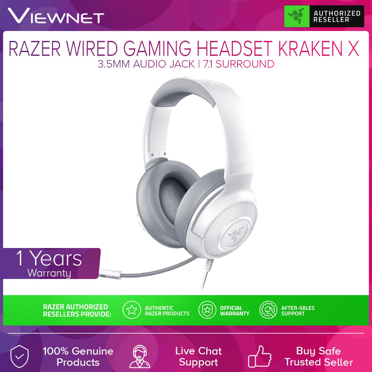 Razer Kraken X Ultralight 7.1 Surround Sound Wired Gaming Headset (RZ04-02890100-R3M1), Analog 3.5mm, 7.1 Surround Sound