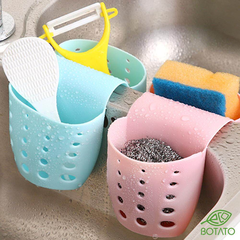 ?[Eco.Botato] DISH WASHER SPONGE CONTAINER SADDLE Sink Corner Kitchen Bathroom Soap Holder Tray Draining Dish Wash