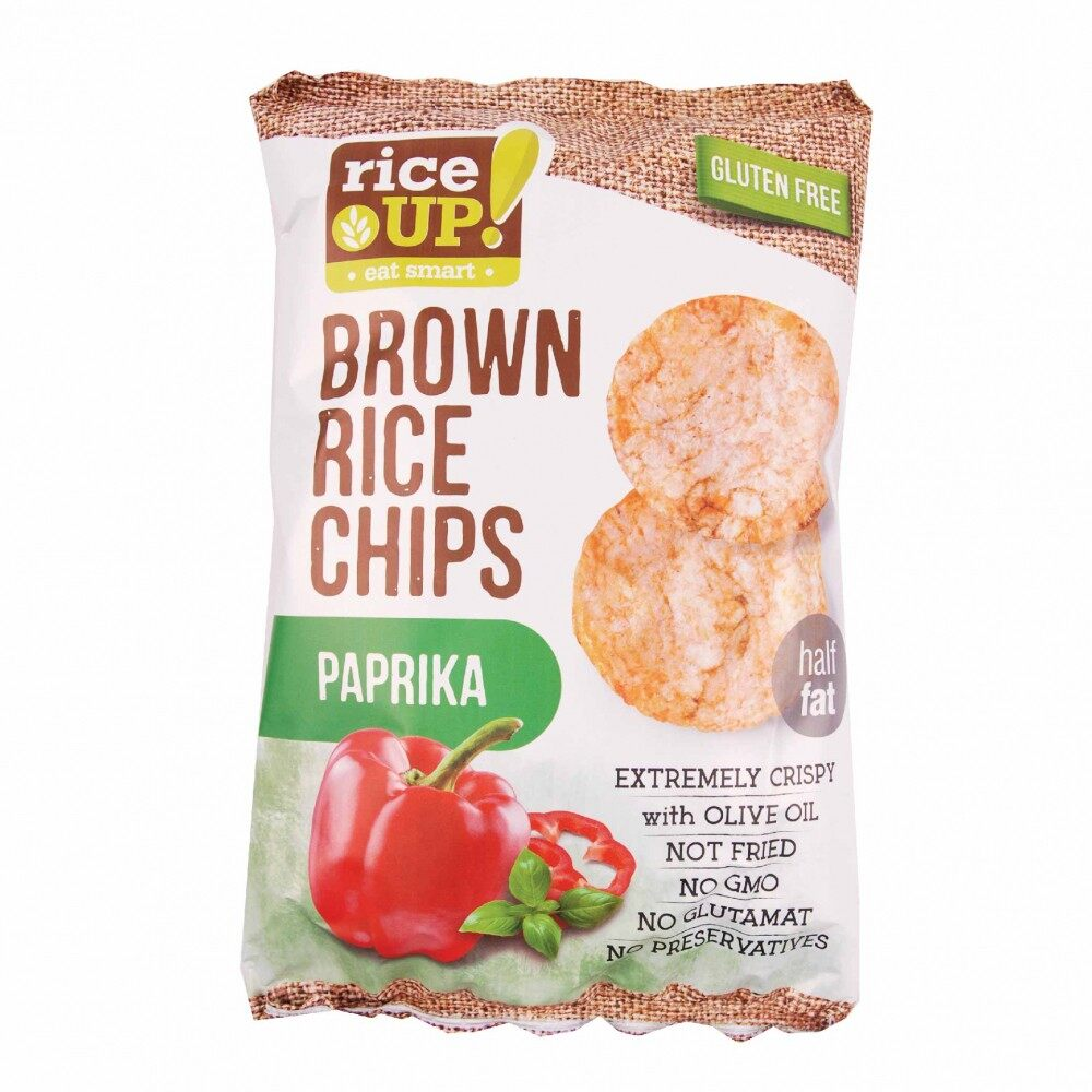 Rice Up Brown Rice Chips With Paprika 65G