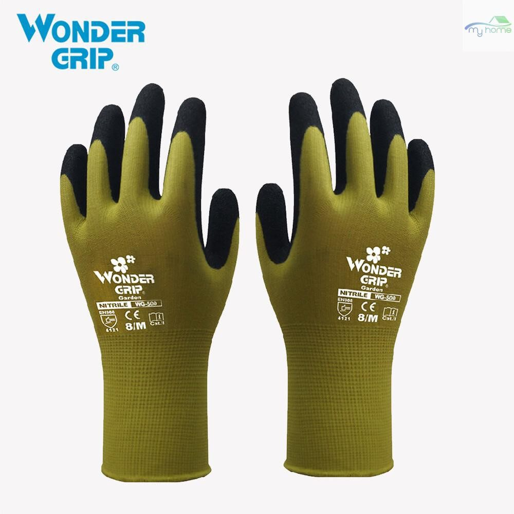 Protective Clothing & Equipment - Wonder Grip Gardening Safety Glove Nylon With Nitrile Coated Work Glove Abrasion-proof Universal - PURPLE-L / PURPLE-M / PURPLE-S / PURPLE-XS / GREEN-M / BLUE-L / BLUE-M / BLUE-S / BLUE-XS / GREEN-XS / GREEN-S