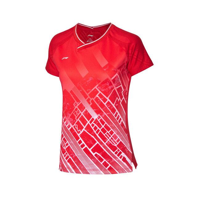 Li-Ning Women's Badminton Jersey - Red AAYP116-3