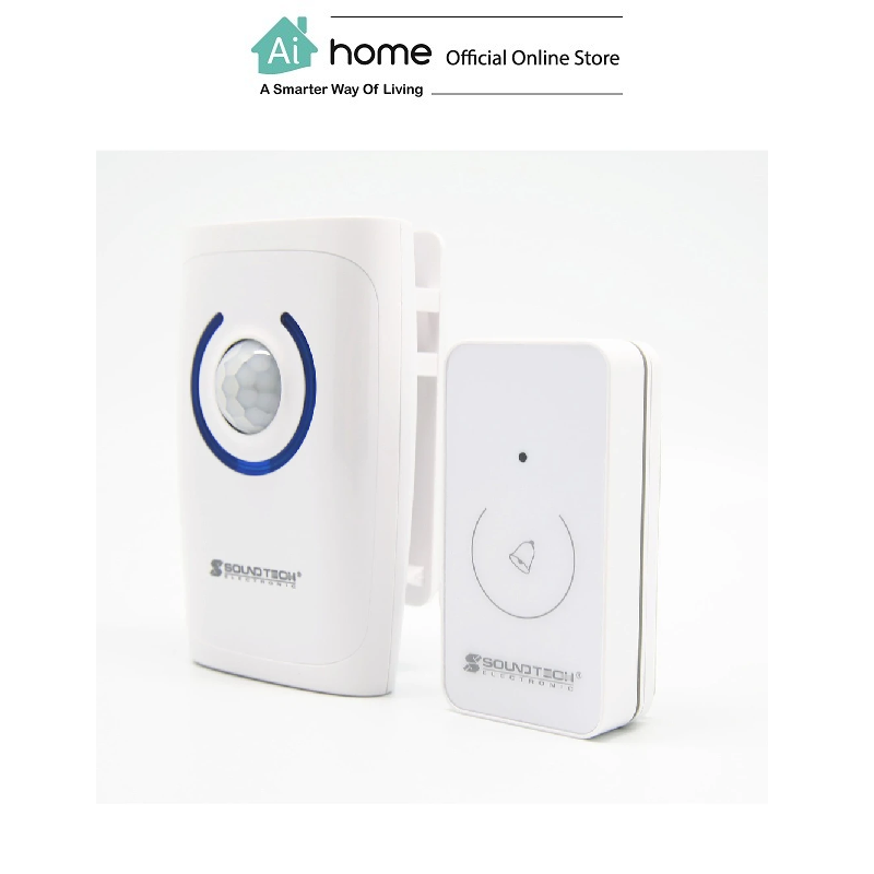 SOUNDTEOH Wireless Doorbell With Alarm And Sensor Light DD-124S with 1 Year Malaysia Warranty [ Ai Home ] SOUNDTEOH Doorbell With Alarm And Sensor
