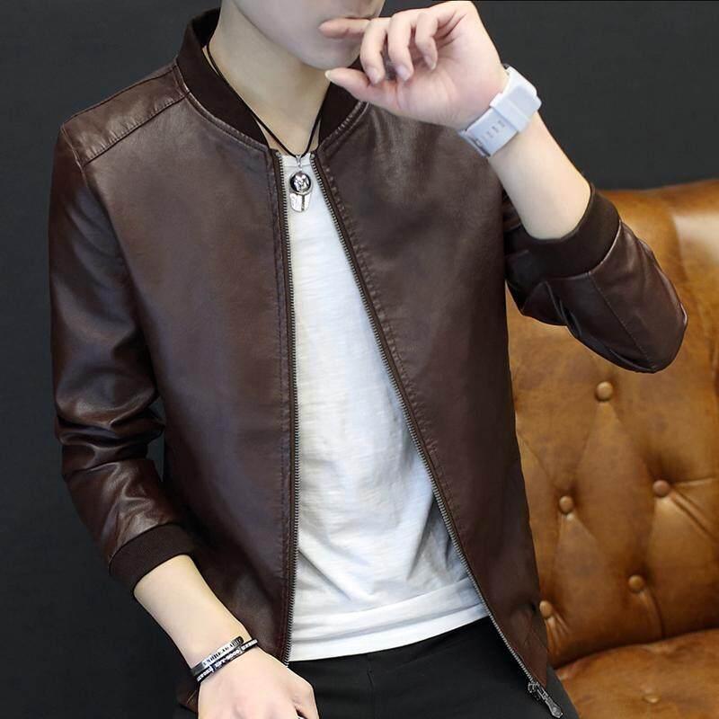 (Pre Order ETA End Feb 2021 CNY Break)(Pre Order ETA 14/2) JYS Fashion Korean Style Men PU Leather Jacket Collection 225 - 6456