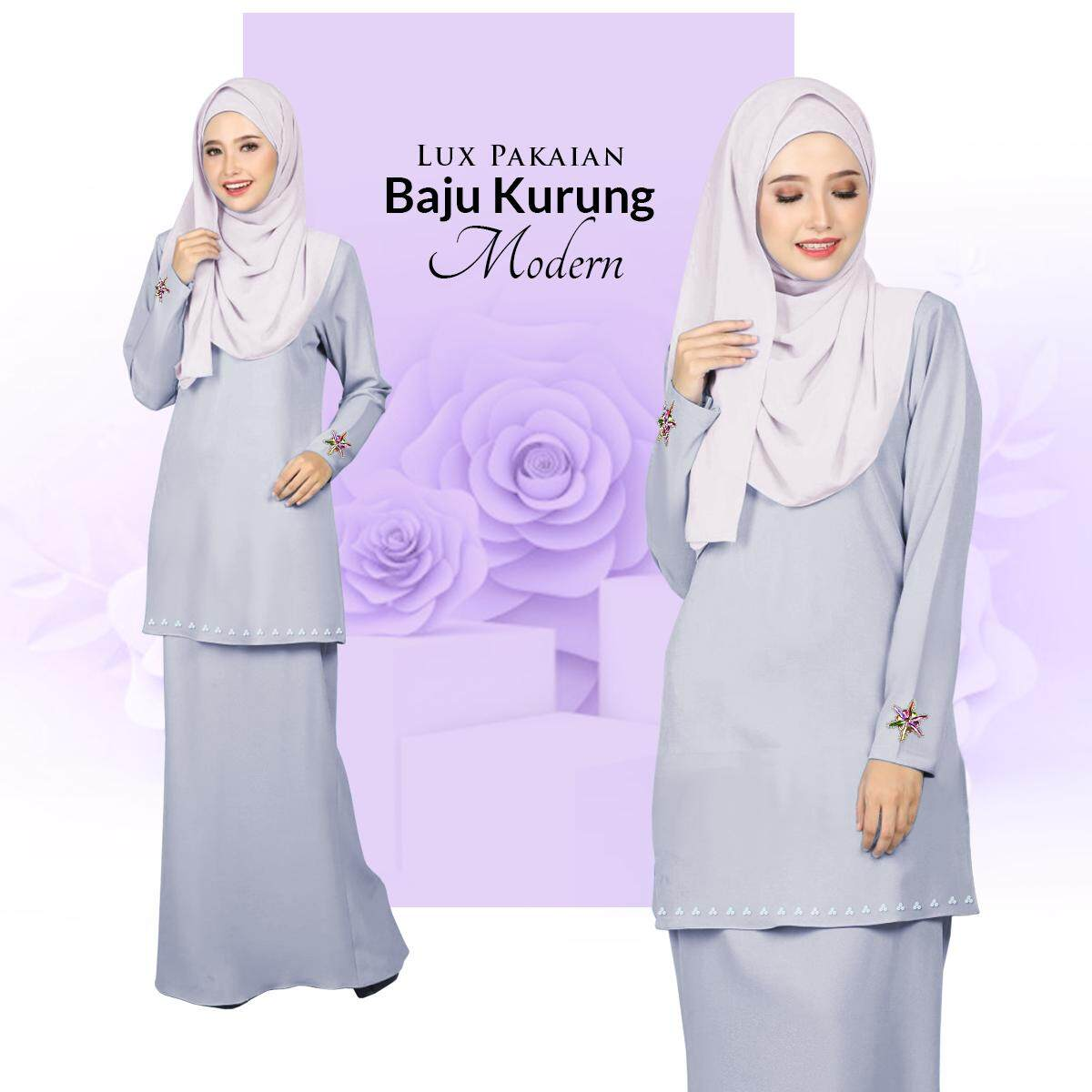 Price List Lux Pakaian Baju Kurung Modern with Stylish Bunch & Batu 2020