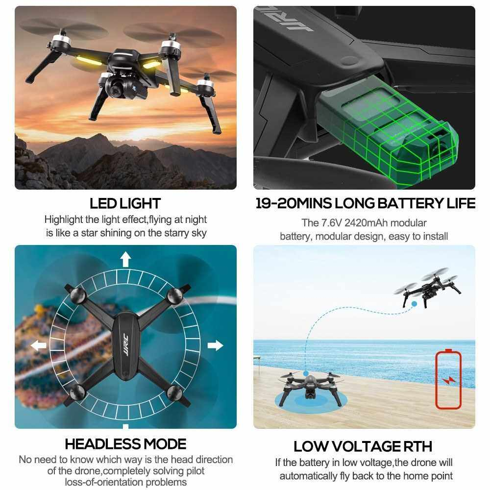 Best Selling JJR/C X5 EPIK RC Drone with Camera 2K 5G WIFI FPV GPS Quadcopter Follow Me Headless Mode Trajectory Flight with a Bag (Pro4)
