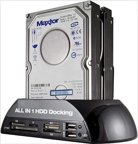 "2.5"" / 3.5"" IDE SATA HDD Docking Station Card Reader Hub"