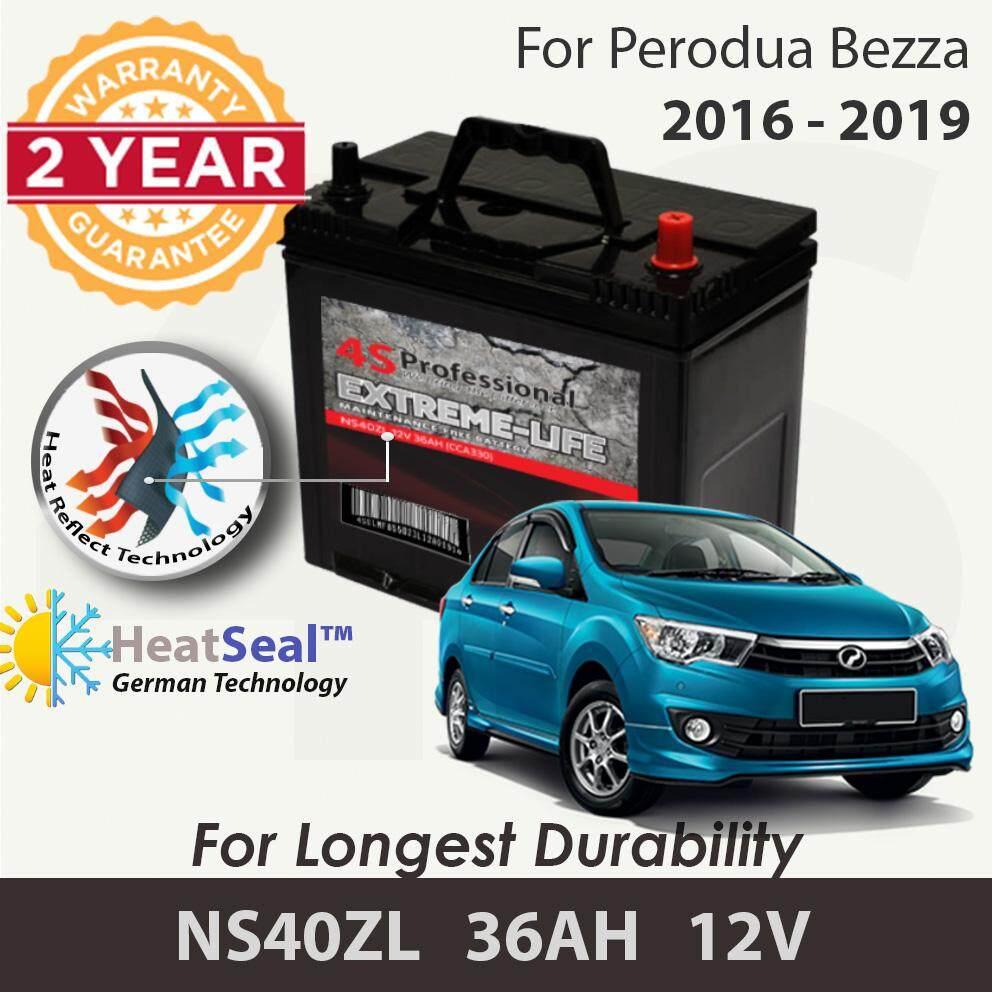 [Free Self-Installation Kit] Perodua Bezza 2016-2019 Non Eco Idle NS40ZL (36B20L) 4S Professional Extreme-Life MF Maintenance Free Car Battery (24 months Warranty) equal to NS40 Amaron Go /GP MF Gold / Varta Silver /Century Gold