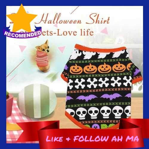 Best Selling Dog Halloween Shirt Pet T Shirt Dog Pet Clothes Pet Halloween Clothes Halloween Costume Dog Shirts (S)