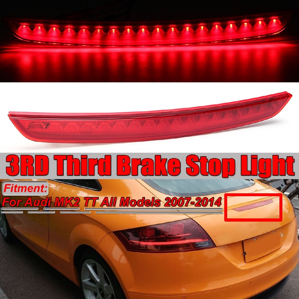 Engine Parts - LED Rear High Level Additional Centre Brake Light Lamp for Audi MK2 TT 07-14 zhibinoppa - Car Replacement
