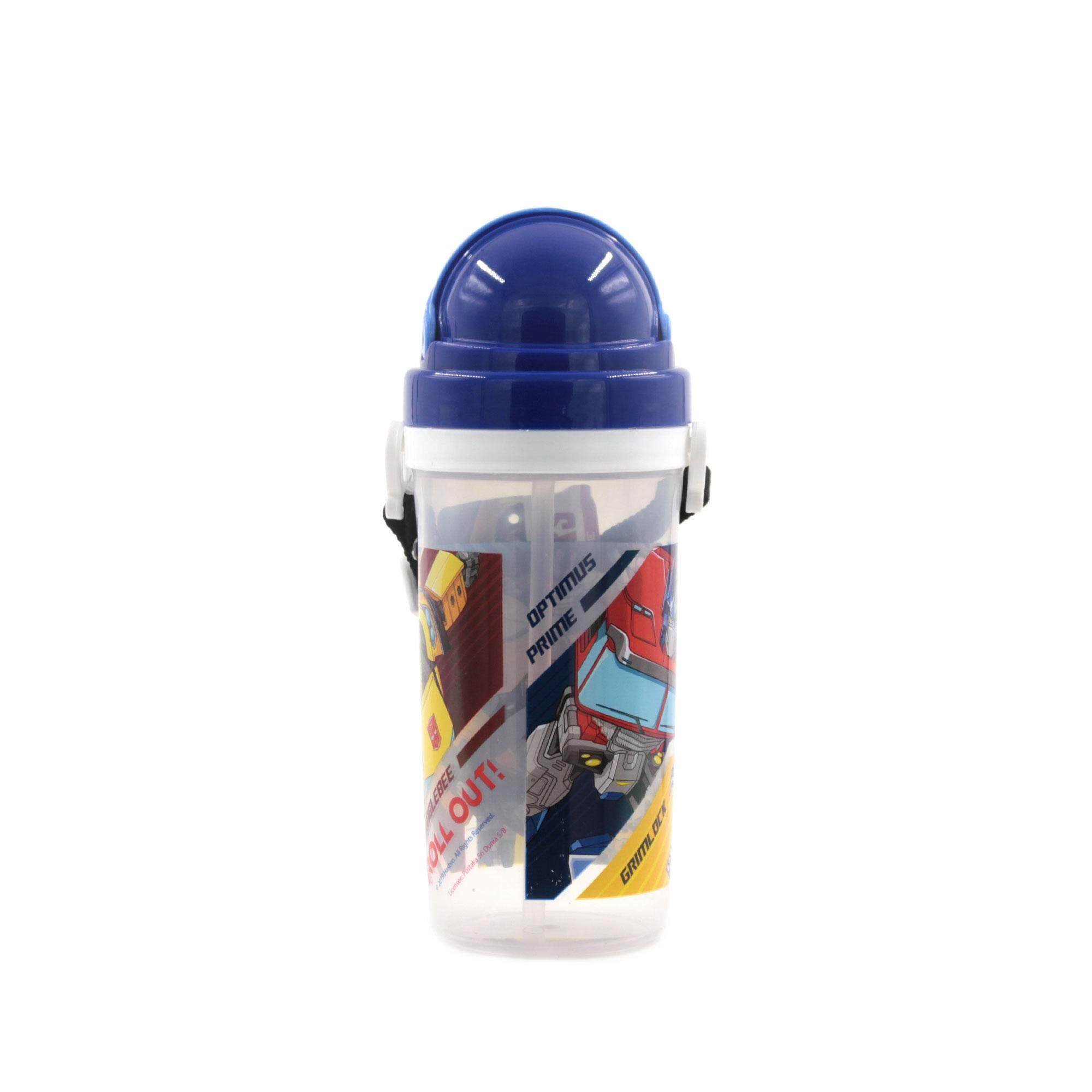 Transformers Bumble Bee Roll Out! BPA Free Kids Water Bottle 500 ML with Pop-Up Straw