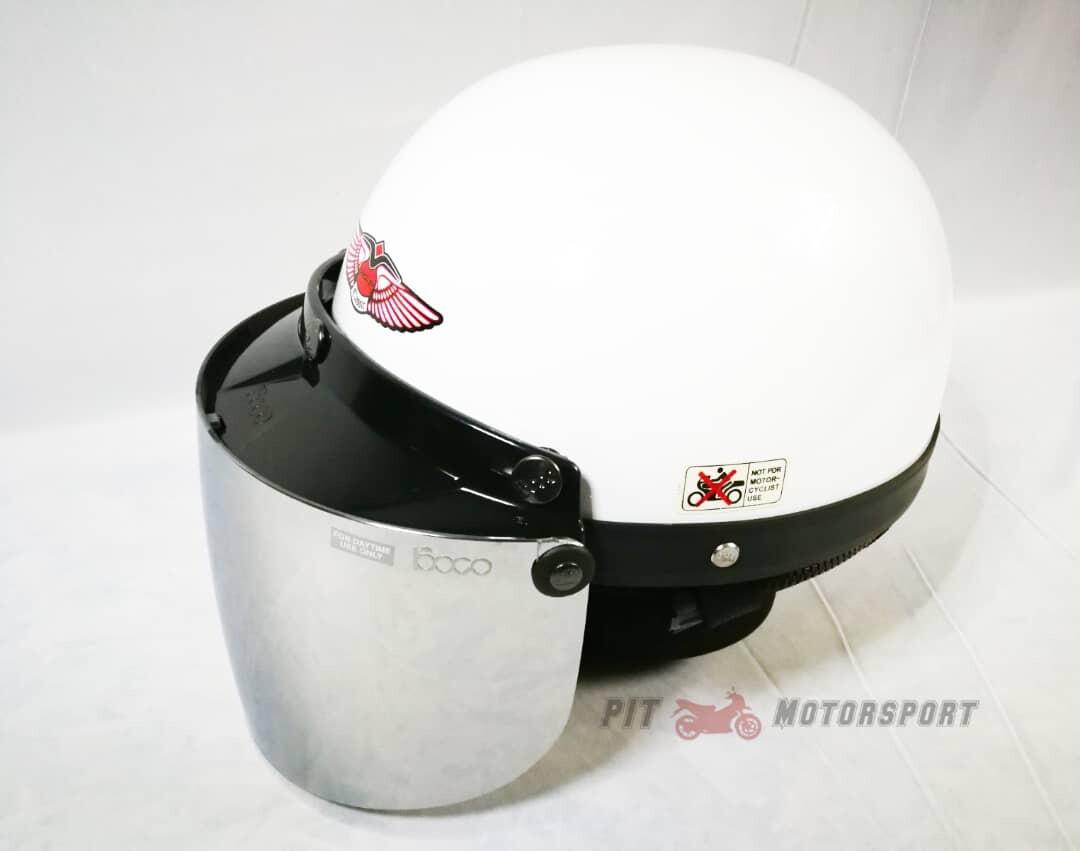 White MHR III Half Cut Helmet / MHR 3 100% Original Kura Size L EX5 Y110 Y80 Wave 125Z Ysuku RFS150 VF3i C70 RS150 LC135 Y15