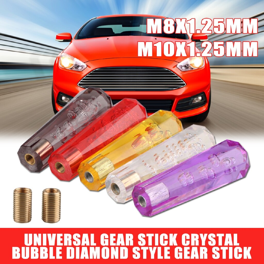 Steering, Seats & Gear Knobs - 150mm Acrylic Car Crystal Bubble Manual Gear Stick Shift Knob 5 Colors - Car Replacement Parts