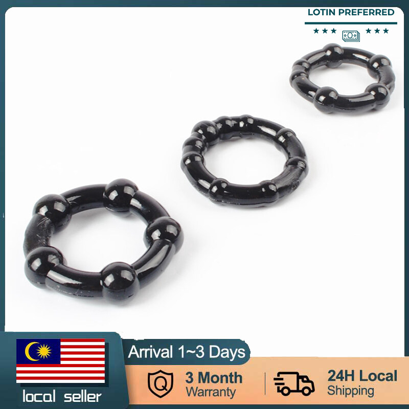 【READY STOCK】Silicone Penis Ring Delaying Ring Rooster Rings Adult Male Sex Toy (3pcs) cincin zakar getah penis ring sex