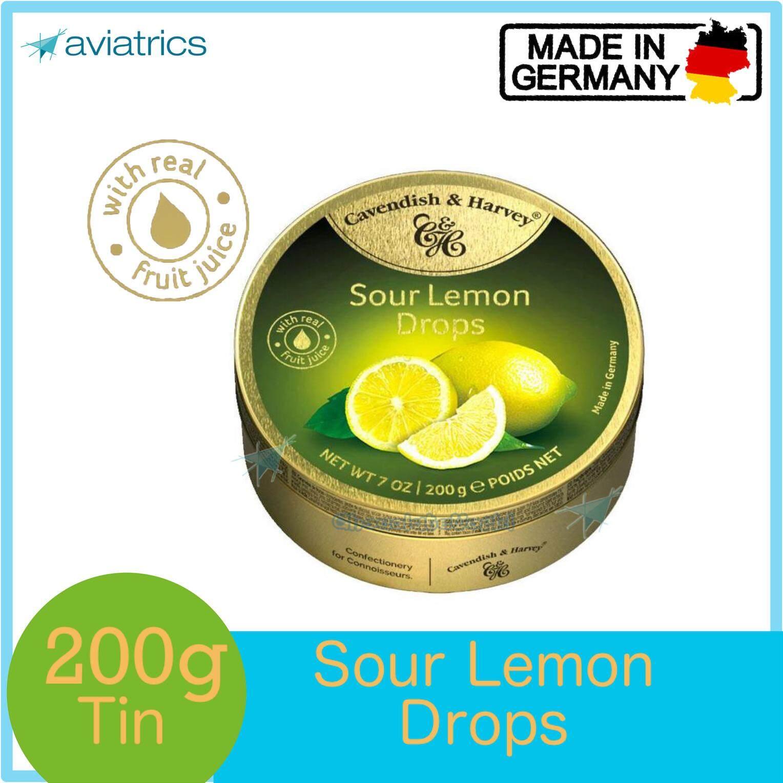 Cavendish Harvey Sour Lemon Drops 200g (Made in Germany)