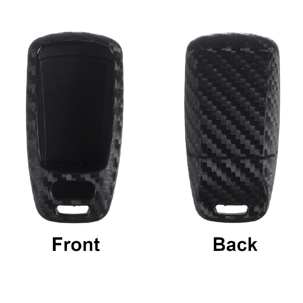 Car Accessories - Carbon Fiber Car Key Case Cover Holder Bag Protection For Audi TT A7 A4 A5 - Automotive