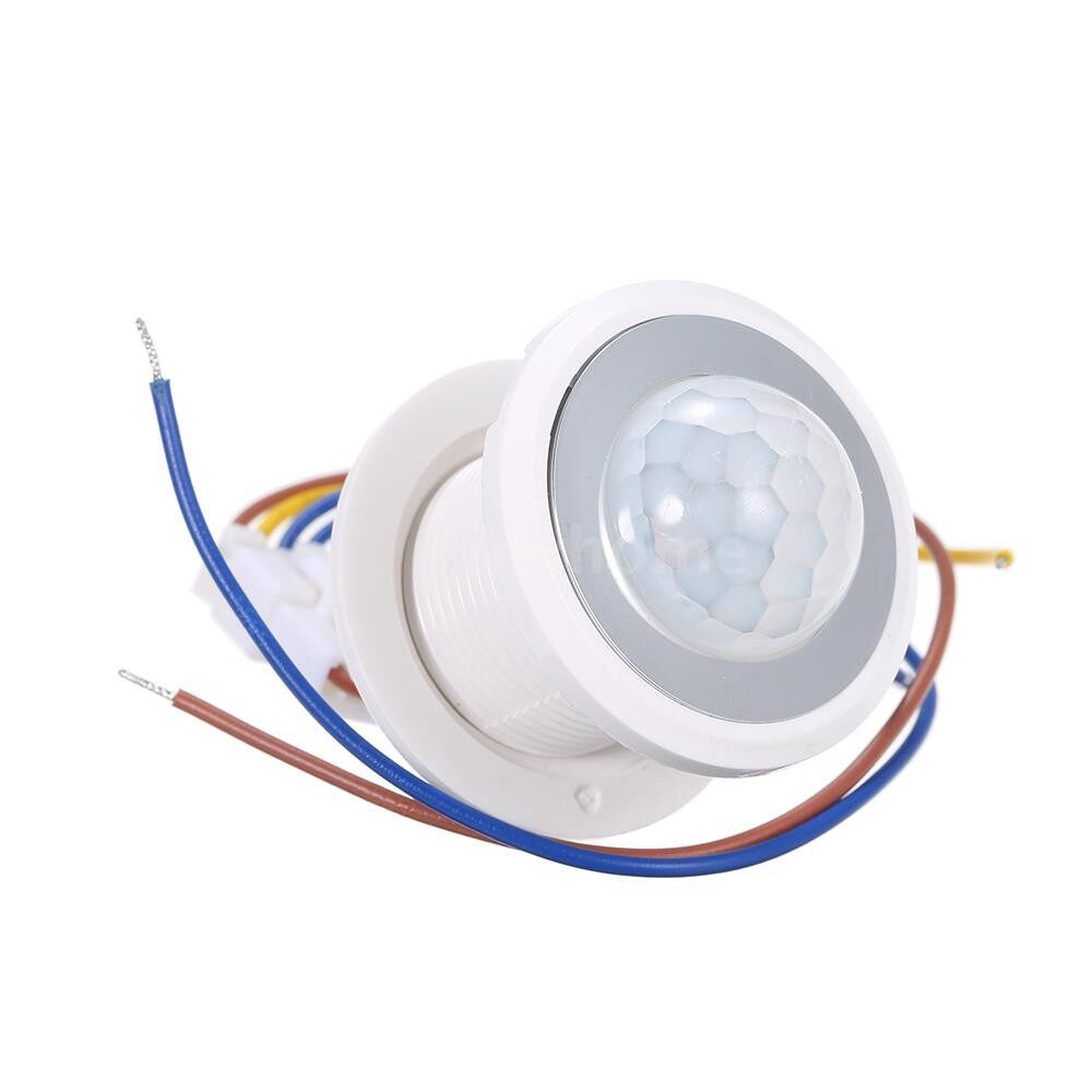 Lighting - AC100-265V 40W(Max.) MINI PIR Motion Sensor Adopted Sensitive Light Control Infrared Human - WHITE